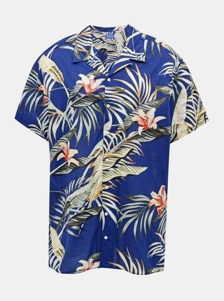 Tmavomodrá vzorovaná košeľa Jack & Jones Marty