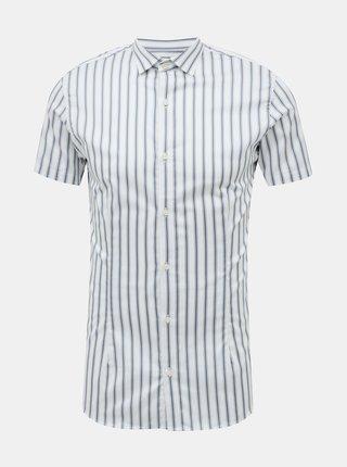 Světle modrá pruhovaná košile Jack & Jones Blaparma