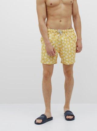 Žluté pánské vzorované plavky killtec Paloro