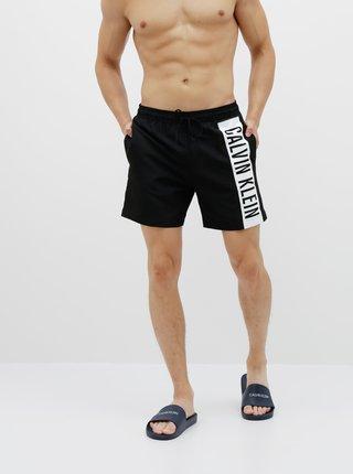 Čierne pánske plavky s potlačou Calvin Klein Underwear