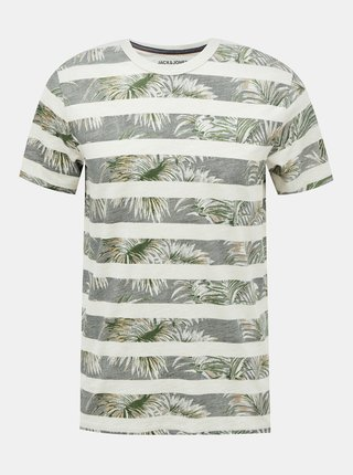 Zelené vzorované tričko Jack & Jones Dustin