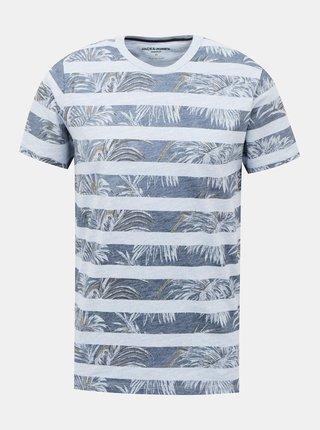 Modré vzorované tričko Jack & Jones Dustin