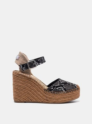 Šedé sandálky s hadím vzorem Replay