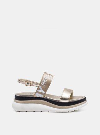 Dámske sandále v zlatej farbe Replay