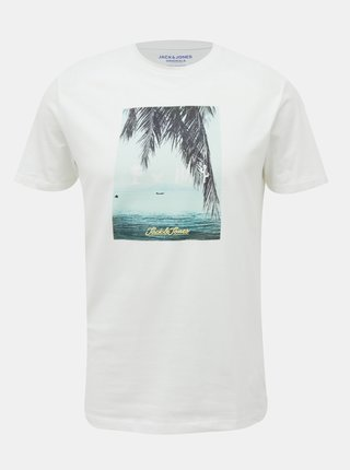 Biele tričko Jack & Jones Suite