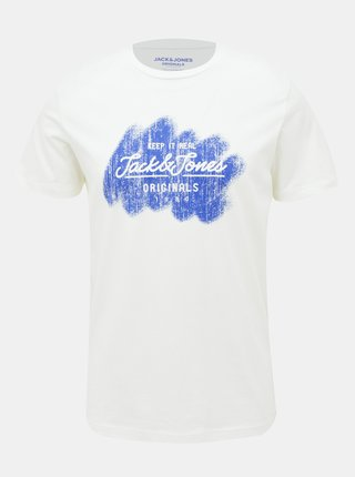 Bílé tričko Jack & Jones Torino