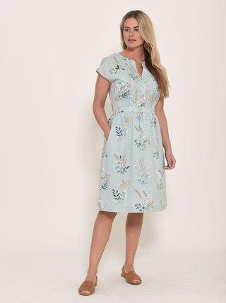 Světle modré květované šaty Brakeburn Posey