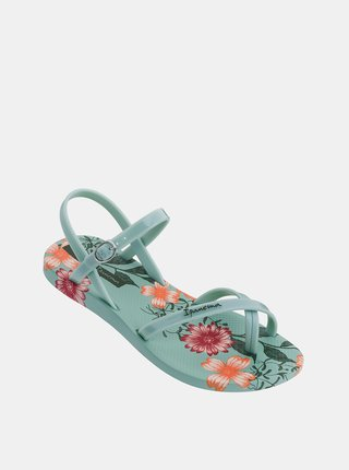 Zelené dámske kvetované sandále Ipanema