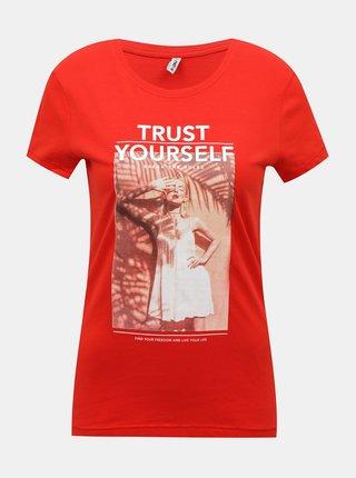 Červené tričko ONLY Kia