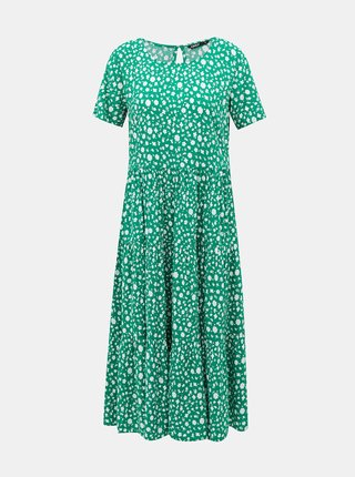 Zelené kvetované midišaty ONLY Fabulous