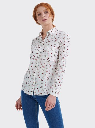 Biela dámska kvetovaná košeľa Alcott
