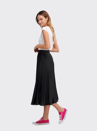 Černá plisovaná midi sukně Alcott
