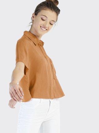 Hnedá dámska košeľa Alcott