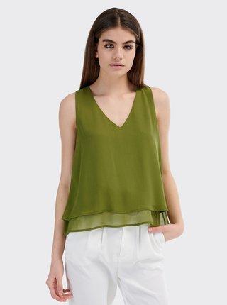 Zelený dámský top Alcott