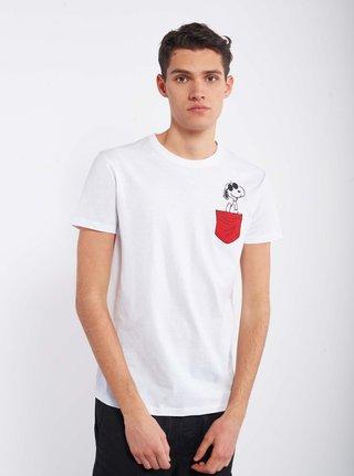 Biele pánske tričko Alcott Snoopy