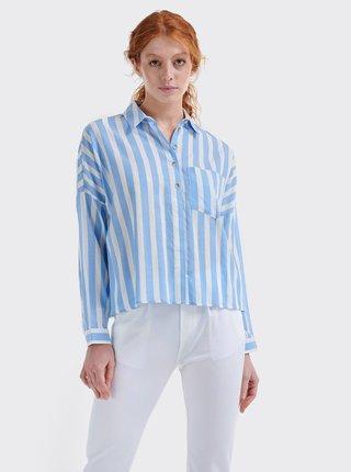Bielo-modrá dámska pruhovaná košeľa Alcott