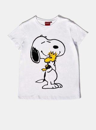 Biele dámske tričko Alcott Snoopy
