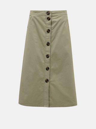 Khaki midi sukně Jacqueline de Yong