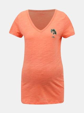 Oranžové tehotenské tričko Mama.licious Joana
