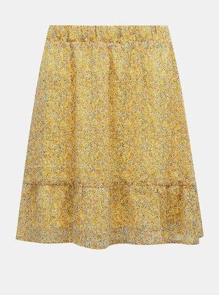 Žltá vzorovaná sukňa AWARE by VERO MODA Lucia