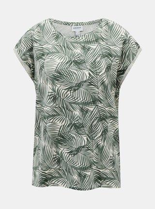 Zelené vzorované tričko AWARE by VERO MODA Ava