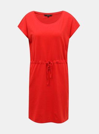 Červené basic šaty VERO MODA April