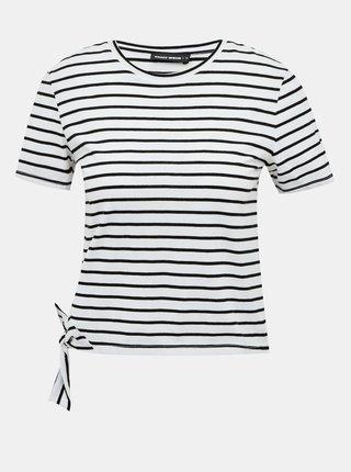 Čierno-biele pruhované krátke tričko TALLY WEiJL