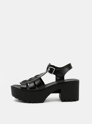 Černé sandálky TALLY WEiJL