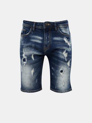 Tmavě modré pánské džínové kraťasy Alcott
