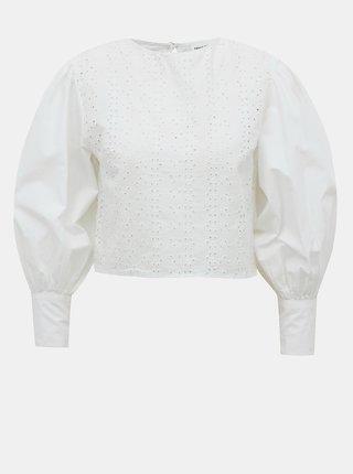 Biela krátka blúzka s madeirou TALLY WEiJL