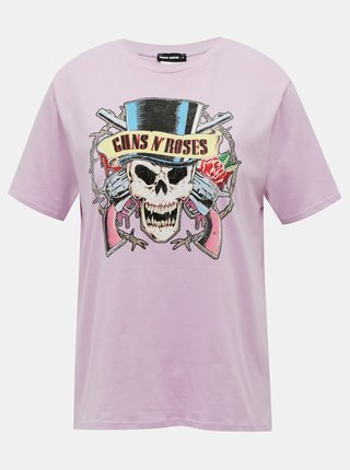 Fialové tričko TALLY WEiJL Guns N´ Roses