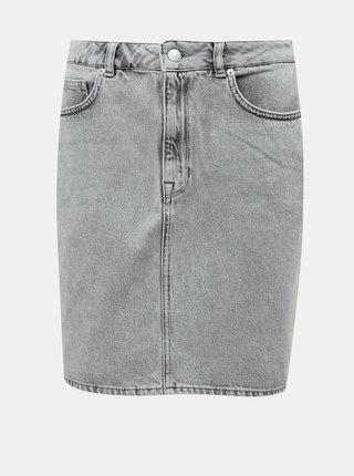 Šedá džínová sukně Selected Femme Helena