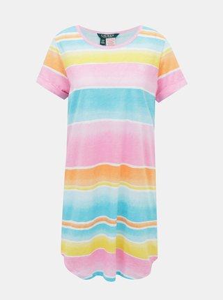 Růžovo-modrá dámská noční košile Lauren Ralph Lauren