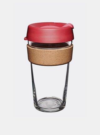 Růžový skleněný cestovní hrnek KeepCup Brew large 454 ml
