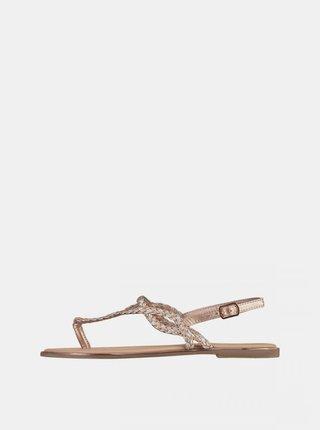 Dámske sandále v zlatej farbe Haily´s Enola