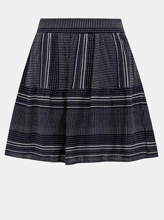 Tmavomodrá vzorovaná sukňa VERO MODA