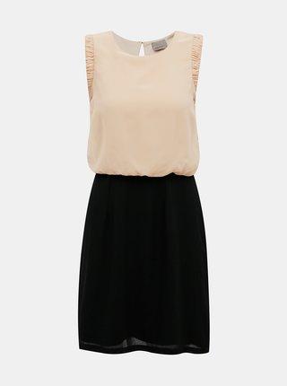Čierno-ružové šaty VERO MODA