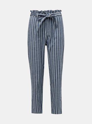 Modré pruhované kalhoty VERO MODA Emily