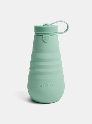 Zelená cestovná skladacia fľaša Stojo 590 ml
