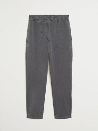 Šedé zkrácené kalhoty Mango Urban