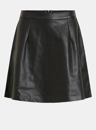 Černá koženková sukně VILA