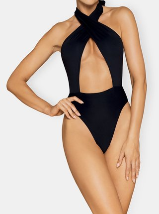 Čierne jednodielne plavky Obsessive Acantila