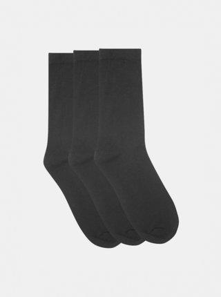 Sada tří párů černých ponožek M&Co