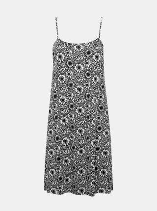 Bílo-černá květovaná noční košile M&Co