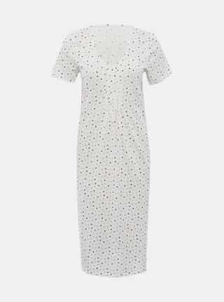 Bílá puntíkovaná noční košile M&Co