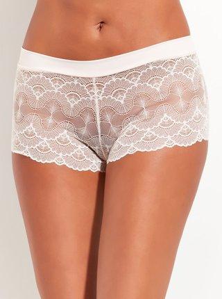 Bílé krajkové kalhotky M&Co