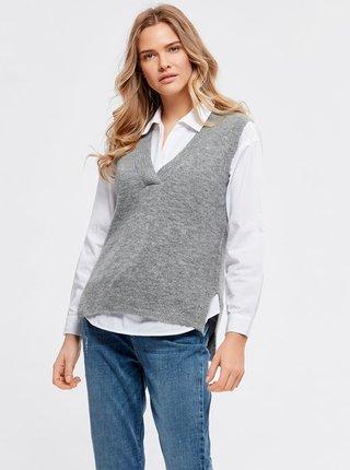 Šedá svetrová vesta M&Co