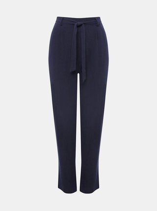 Tmavomodré nohavice s prímesou ľanu M&Co