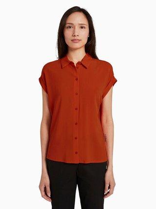 Cihlová dámská košile Tom Tailor