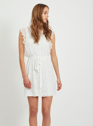 Bílé krajkové šaty VILA